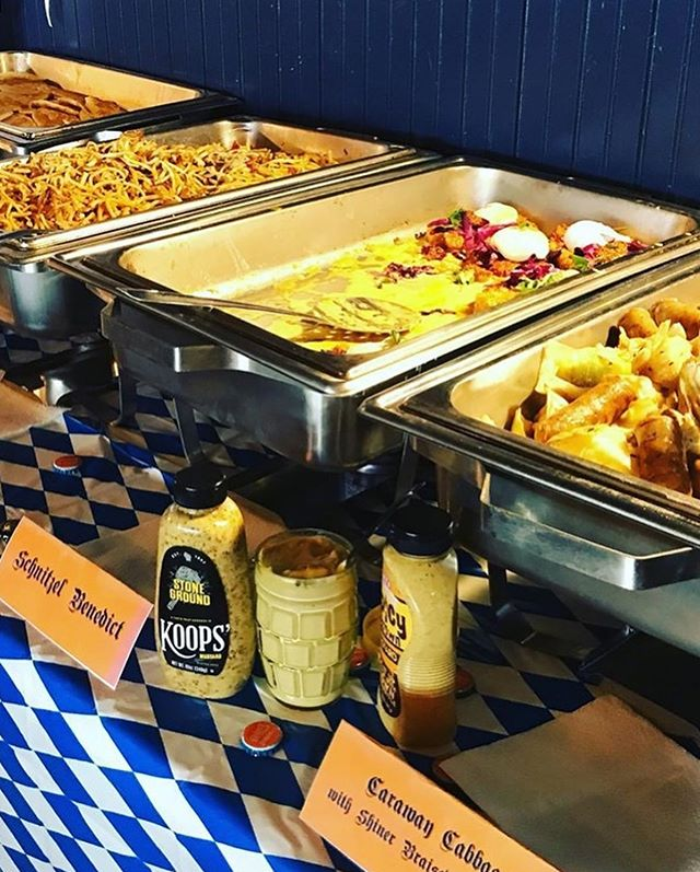 Here's a look at a few of Chef Foote's delicious Oktoberfest Brunch dishes... Thank you to everyone who came out, and we can't wait to see you at our next Moonshine Drinkery Pop–up Brunch!! #oktoberfest #oktoberfestbrunch @mdrinkery