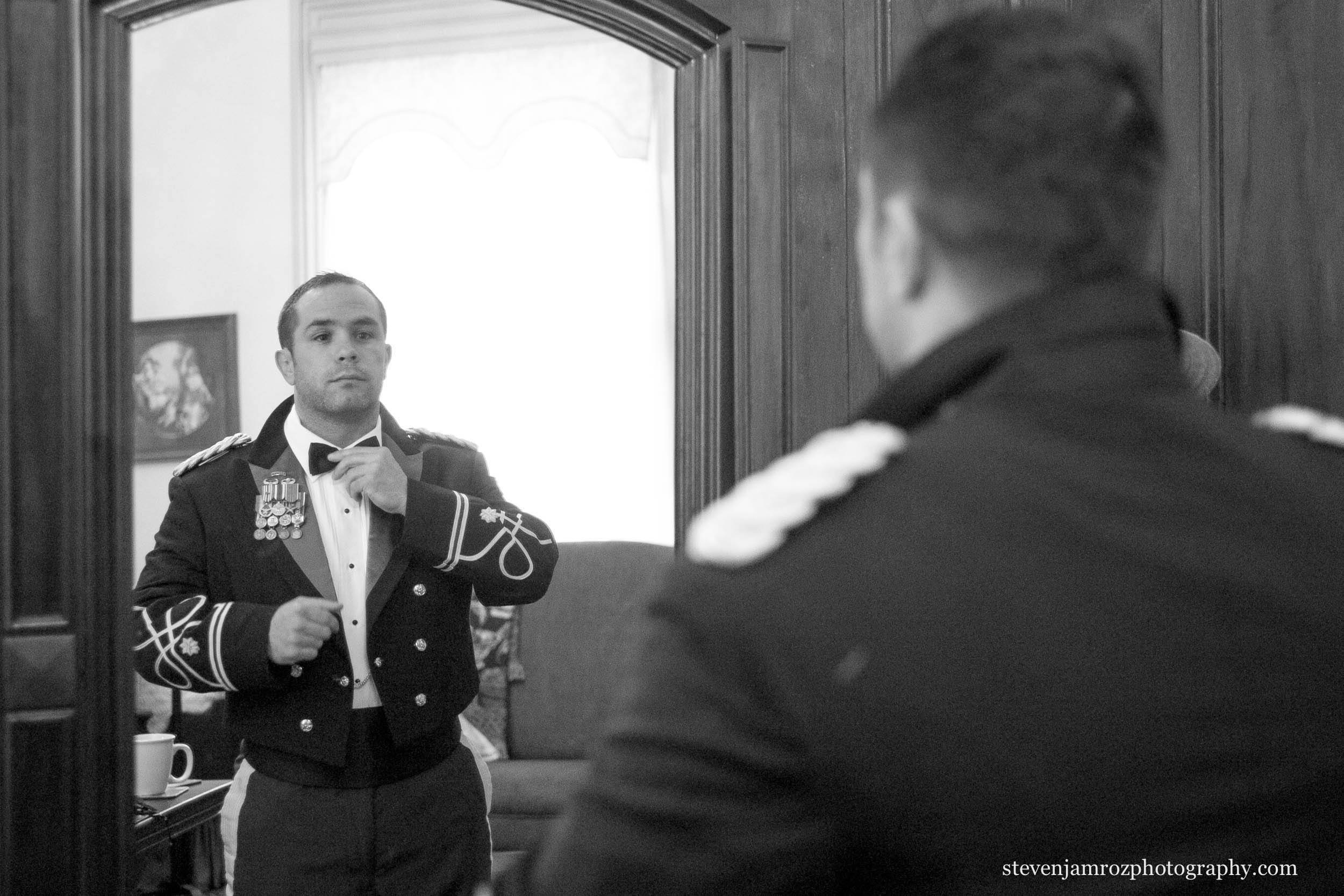 bowtie-adjust-mirror-military-wedding-nc-steven-jamroz-photography-0208.jpg