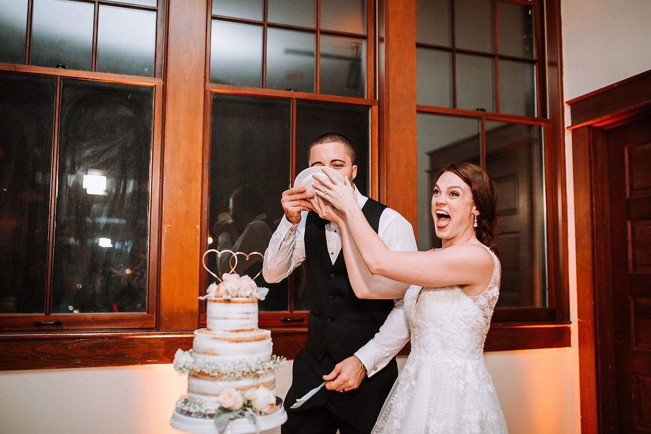 face-smashed-in-cake-wedding-reception