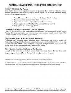 Senior Advising Information