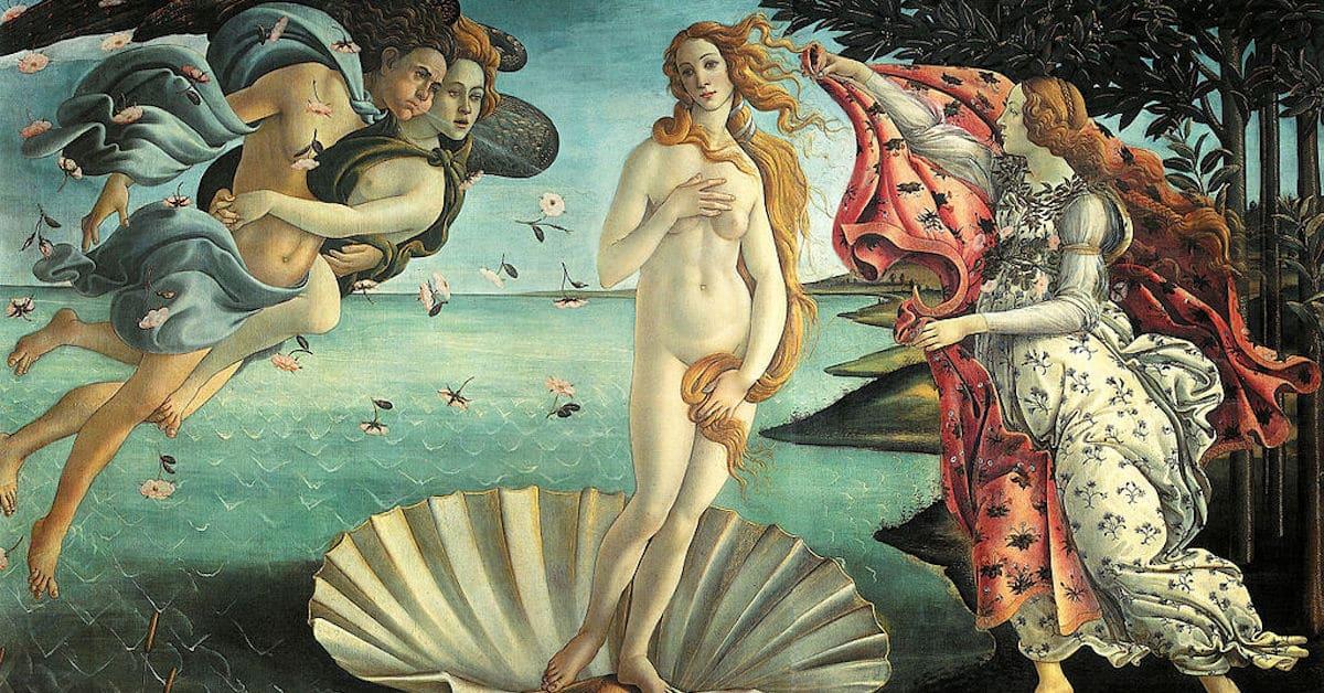 Boticelli's Birth of Venus Painting