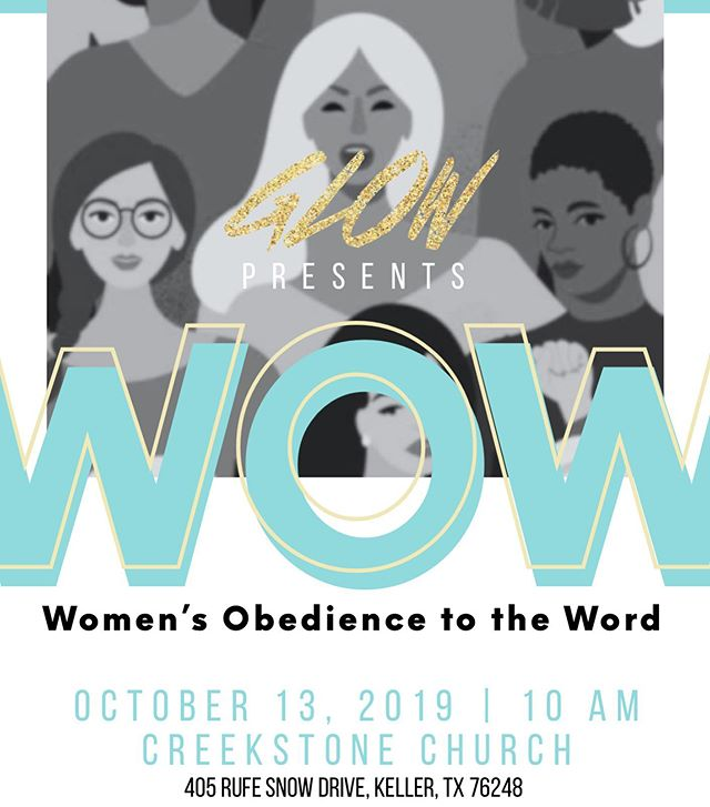Creekstone's GLOW Women's Ministry invites you to join us as we celebrate #Women! Definition Reveals Destination: Embracing Our Role Furthers the Kingdom.  Please bring a friend and wear black with a hint of Tiffany blue! #WomenEmpowermentSunday