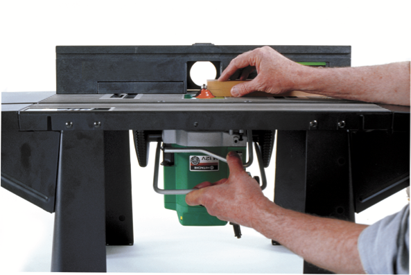 The PlungeBar dramatically improves depthing in a router table.