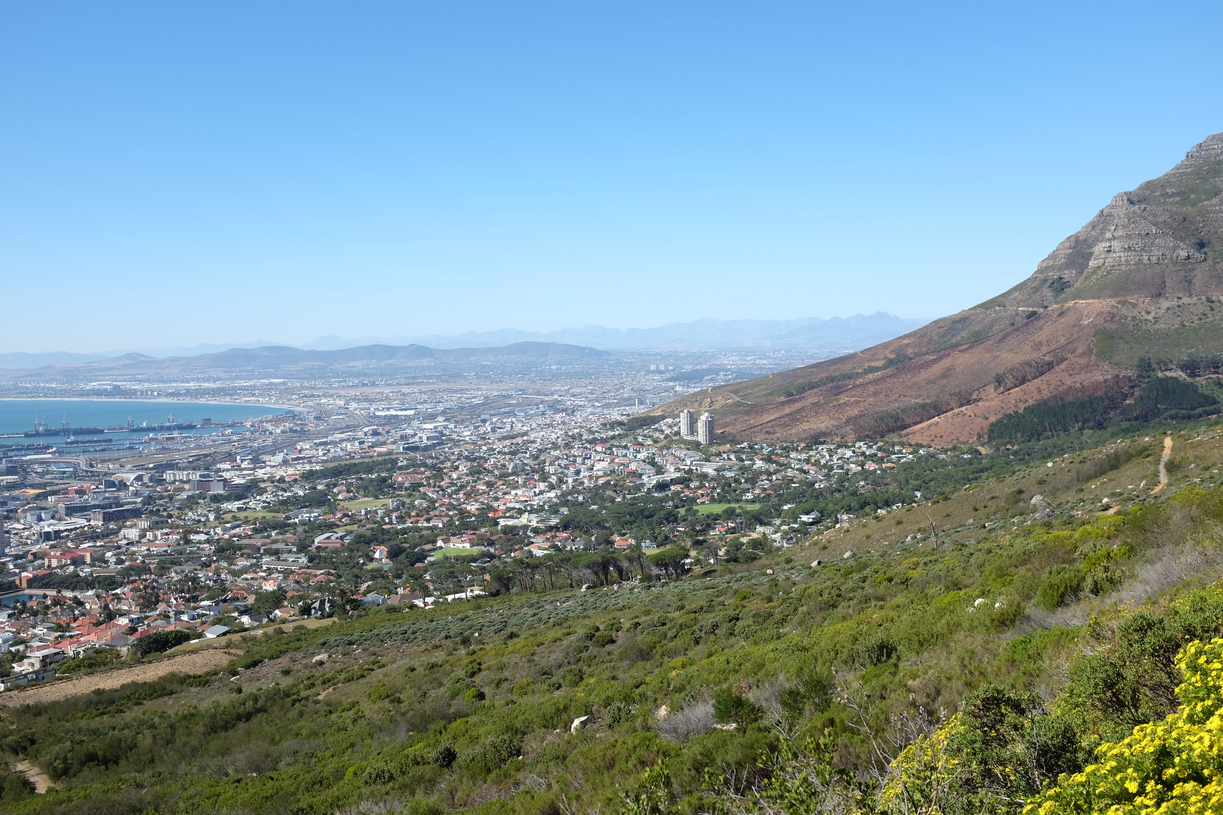 A view of Cape Town from atop Table Mountain.