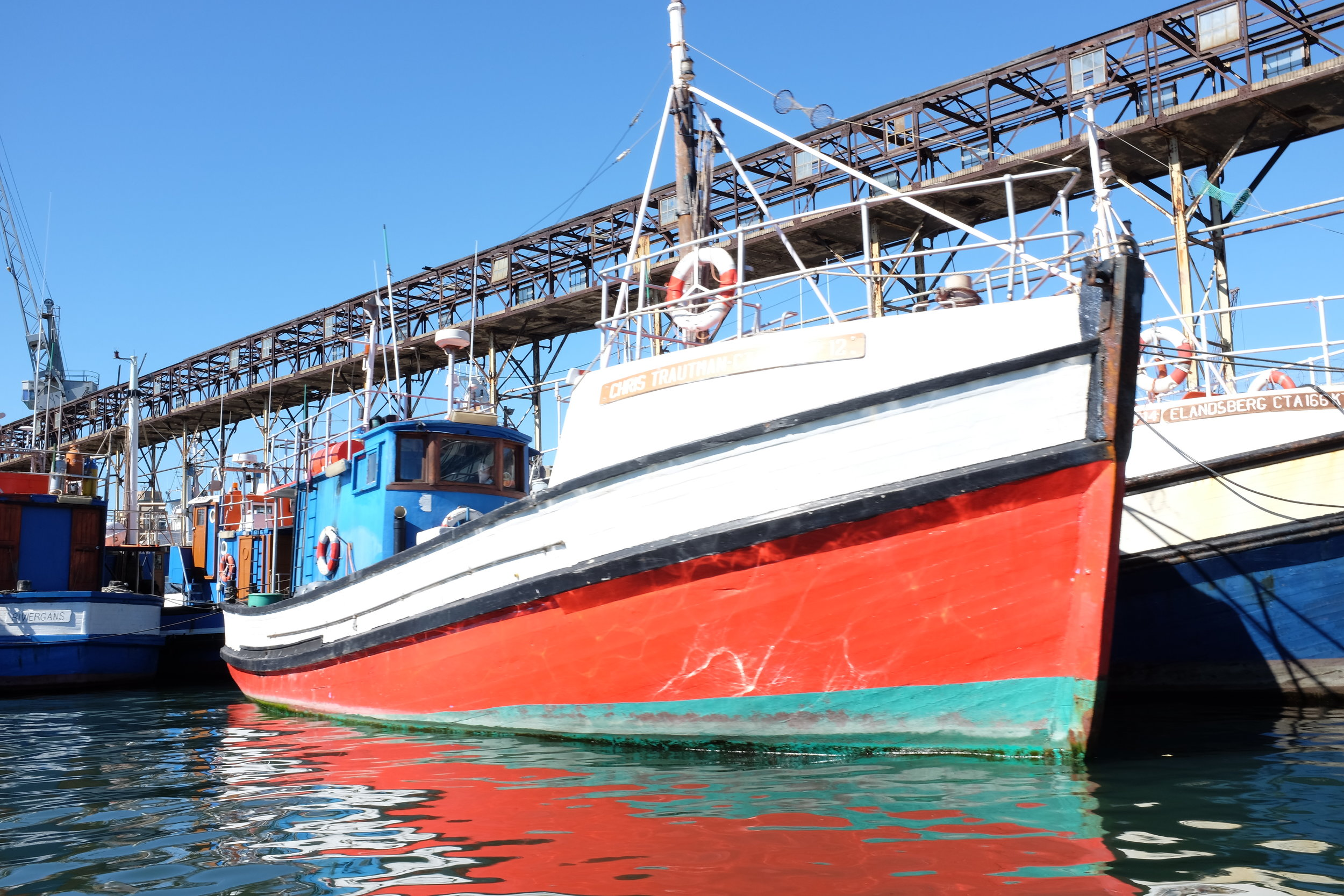 A boat at the Victoria & Alfred Waterfront in Cape Town.