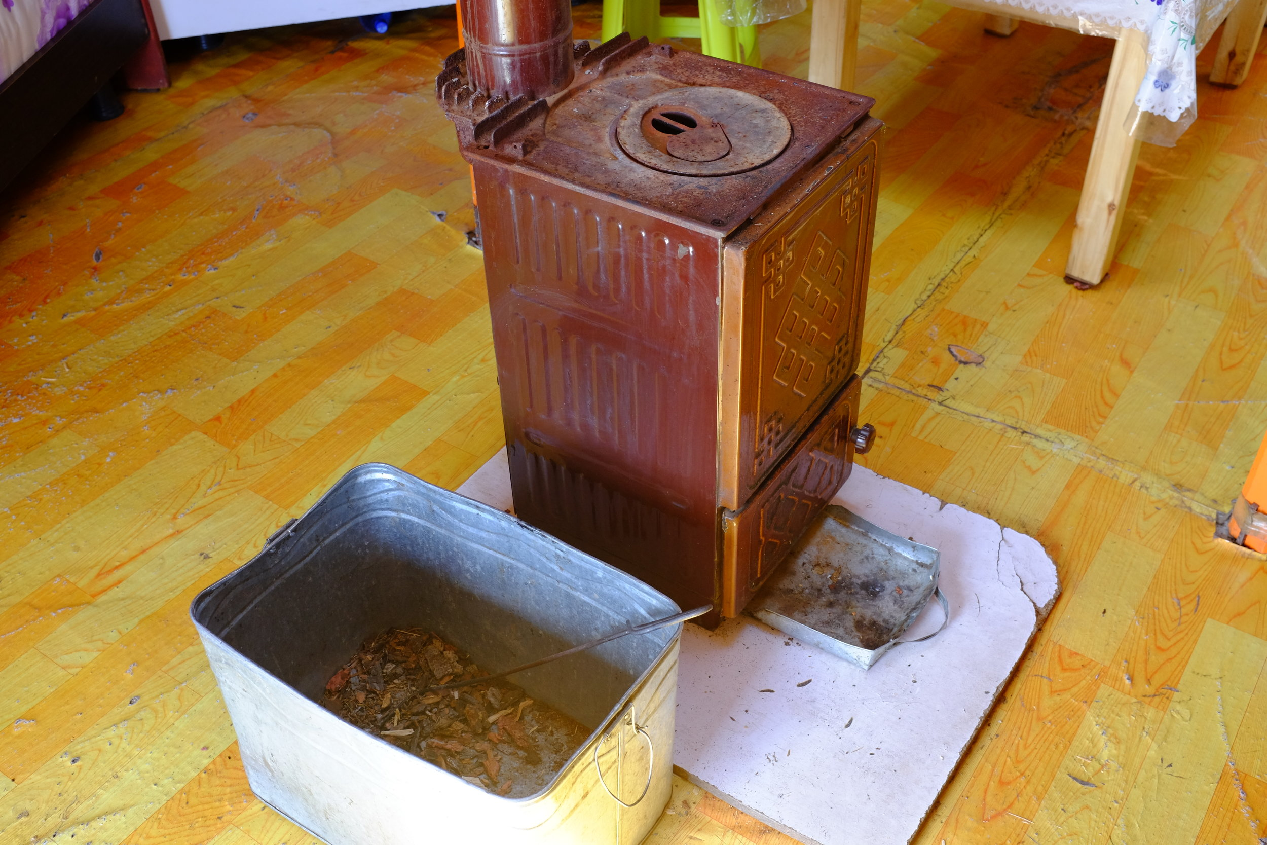 ger inside stove