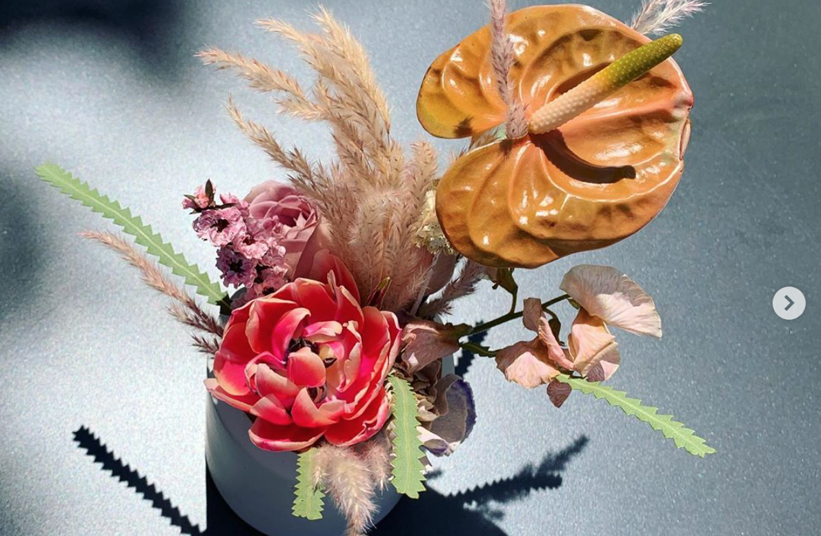 Poppy Lavender Florals