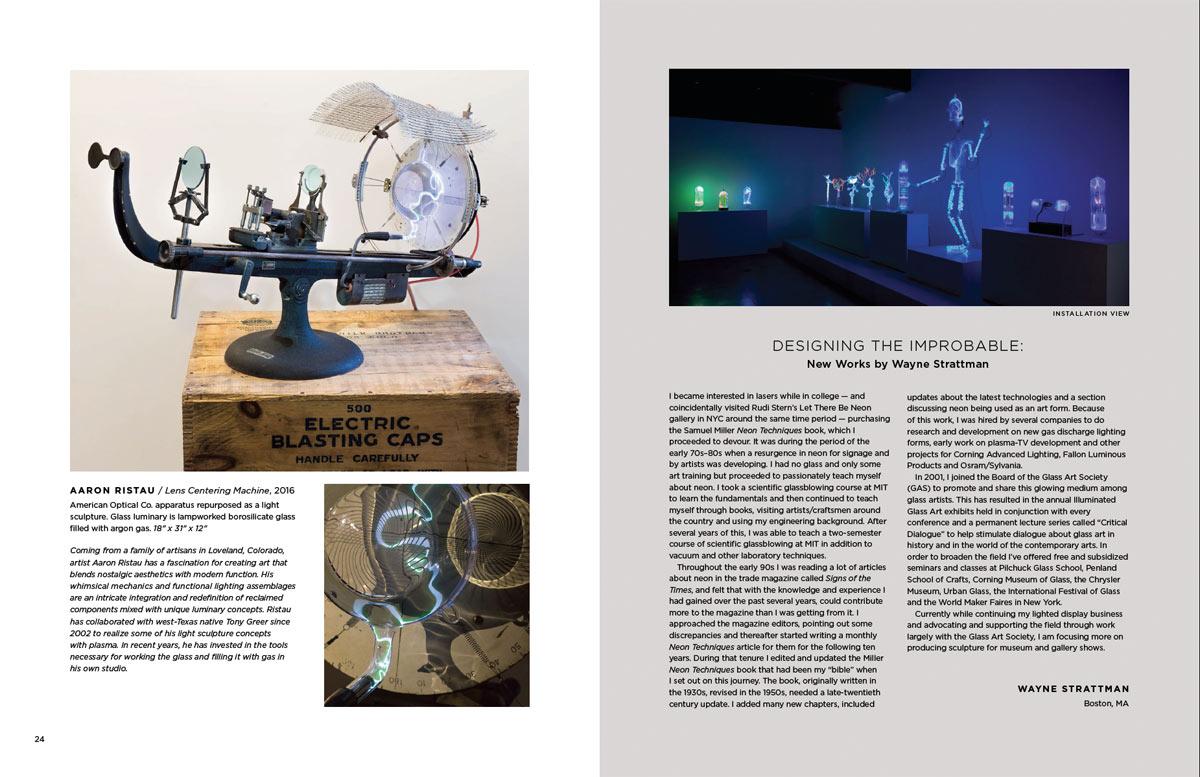 Spread of museum exhibition catalog.  Design / 2016