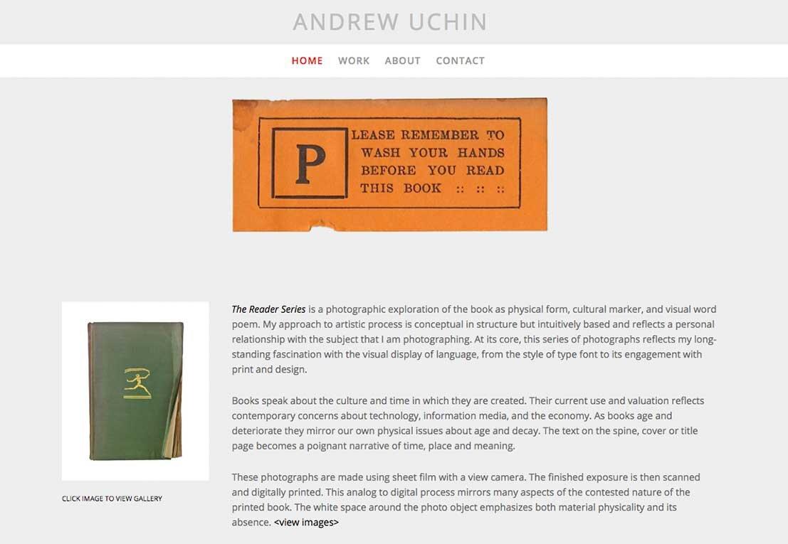 ANDREW UCHIN, PHOTOGRAPHER
