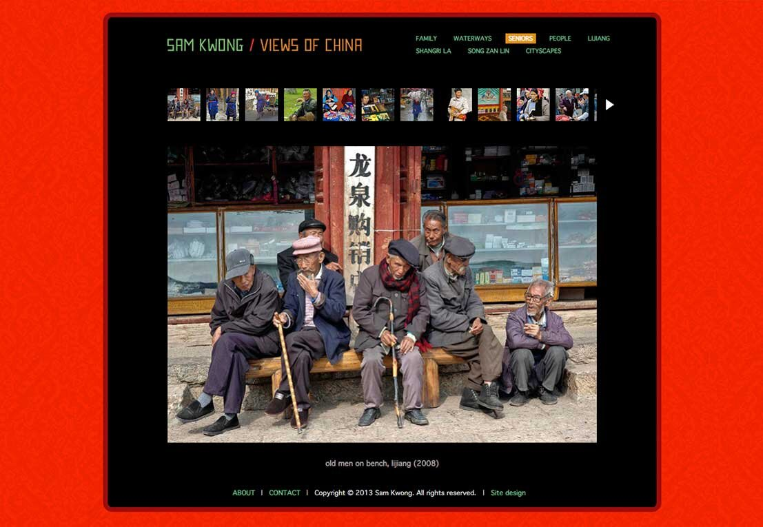 sam kwong photography , live site (pre-responsive squarespace V5). SAM TOOK SOME REMARKABLE PHOTOS AND TAUGHT ME A GREAT DEAL. A TRUE POSTHUMOUS SITE MAINTAINED BY HIS DAUGHTER.