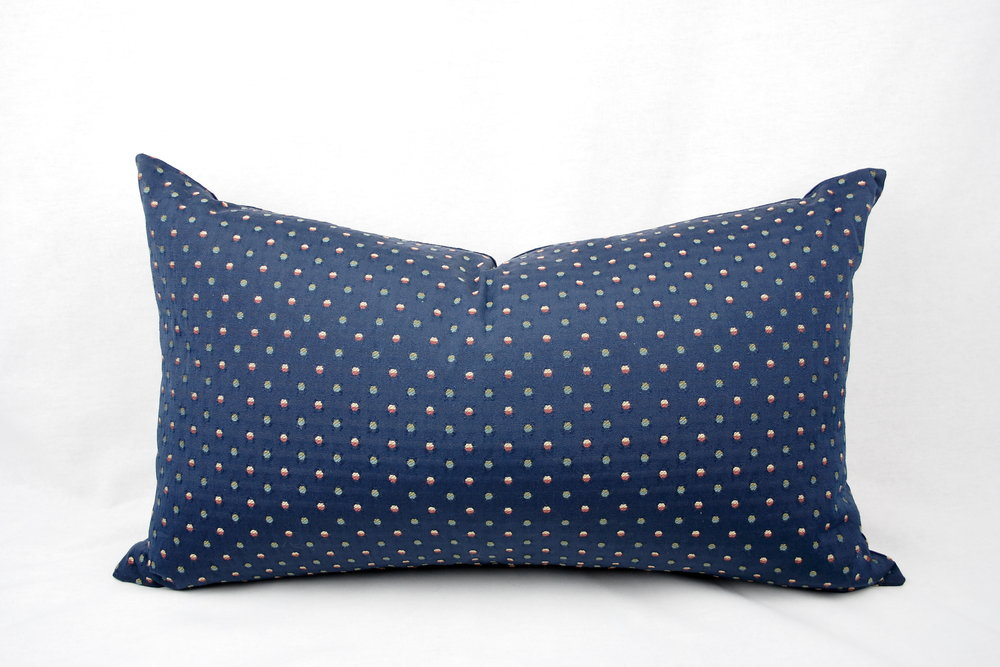 16 X 24 Inch Navy Multi Color Polka Dot Pillow Cover Sew Kimberley