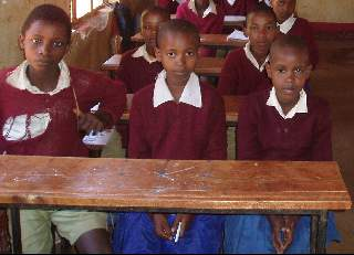 KEF built additional desks at Ayalabe Primary School
