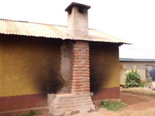 Completed chimney on primary school, 2012