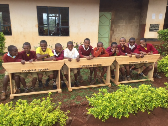 Fundraising projects led by Jennifer Jaynes helped bring desks to Haymu Primary Schools in memory of her daughter Hannah.