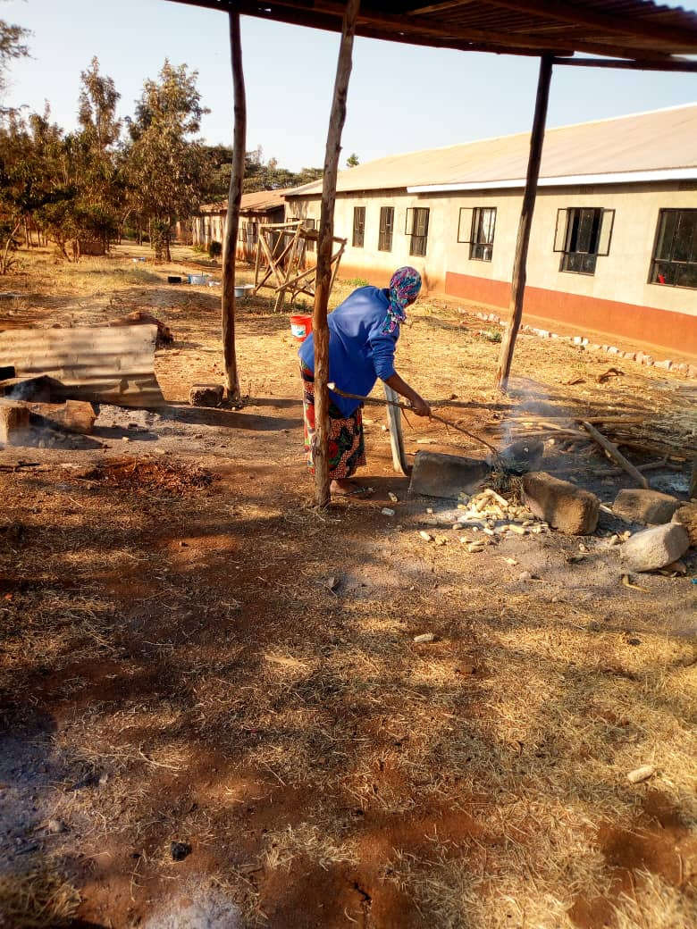 Current Cooking Area at Ganako Primary