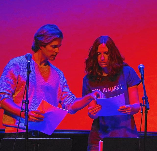 Some #vibrant images of @gregsestero during a #script reading at a recent event. Check out those colors! 🔴🔵 • #BTS #behindthescenes #BestFriends #BestFriendsMovie #TheRoom #TheDisasterArtist #TommyWiseau #GregSestero #actor #OnTour #red #blue // 📸: Matthew and Laura Dowling
