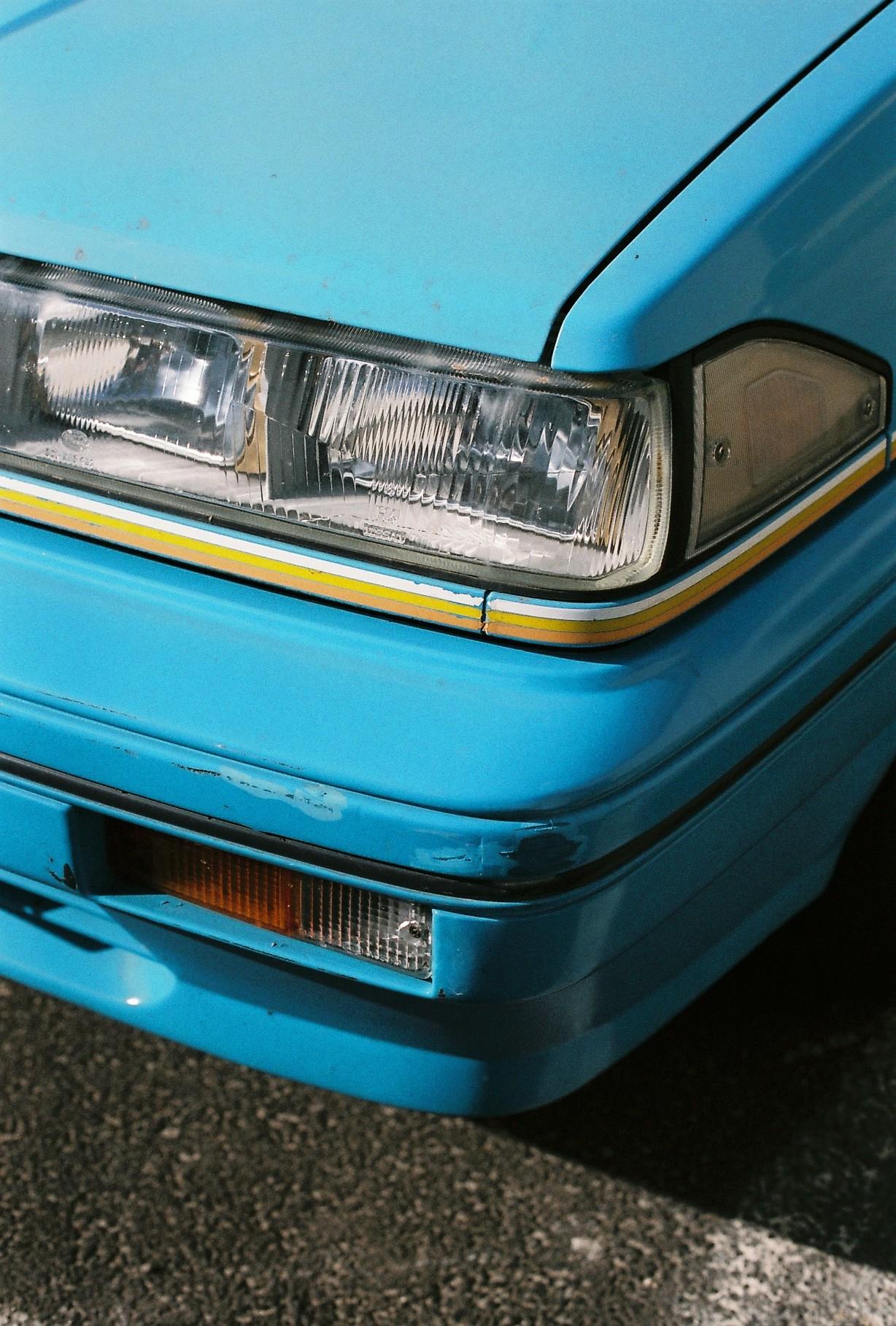 photography suburb melbourne blue car