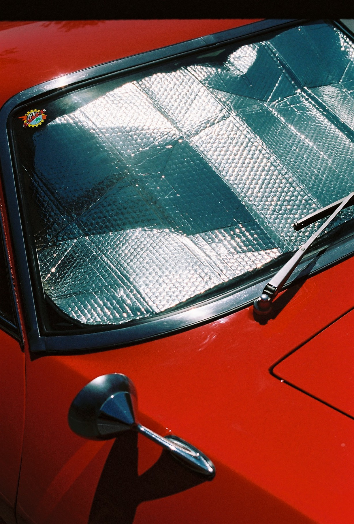 photography suburb melbourne red car reflection