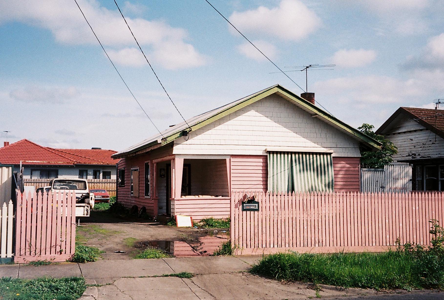 photography suburb melbourne coburb pink house garden