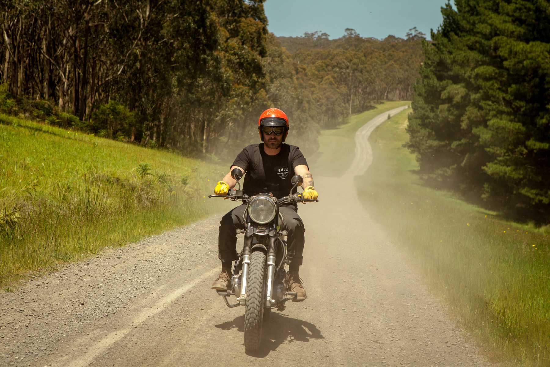 Suus motorcycle custom motowear lookbook campaign model melbourne