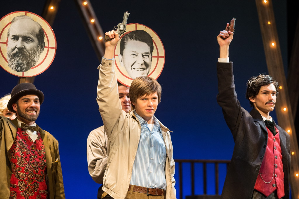Donald Sutton as John Hinckley, Jr. (Assassins) - Opening Number.jpg