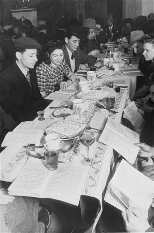 Seder Night in a Displaced Person's Camp, Bamberg Germany 1946