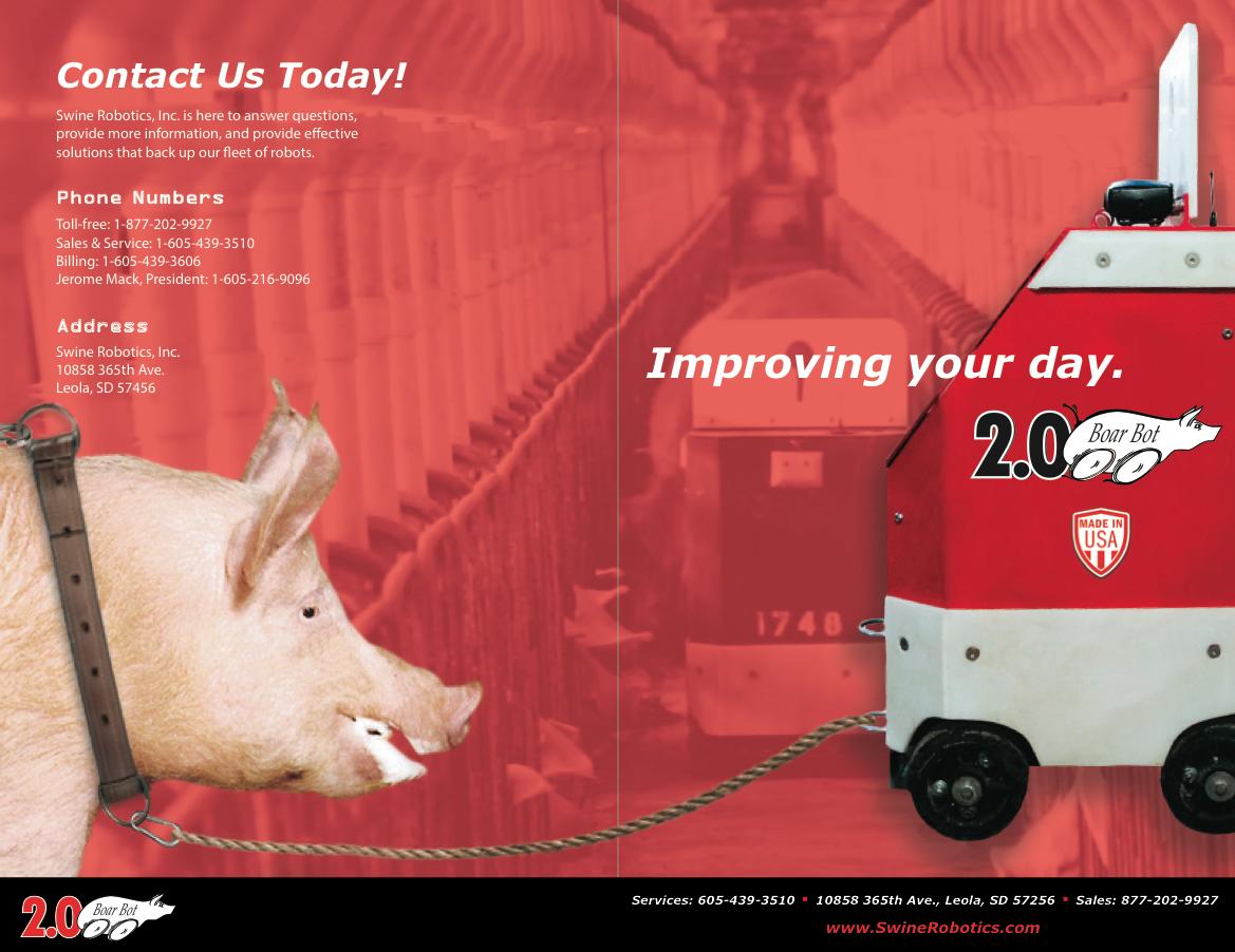 Swine robotics - Brochure and Flyer