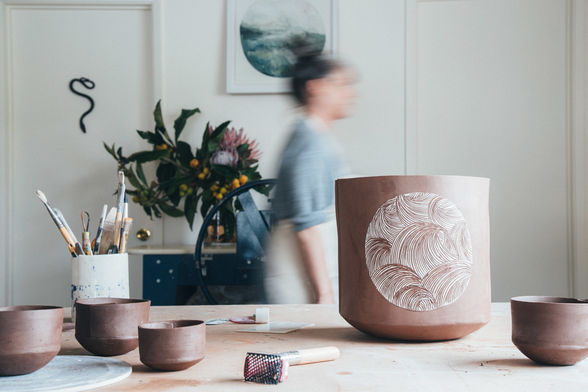 Shop for handmade pottery, jewelry and prints at Yonder Shop. (©Yonder Shop)