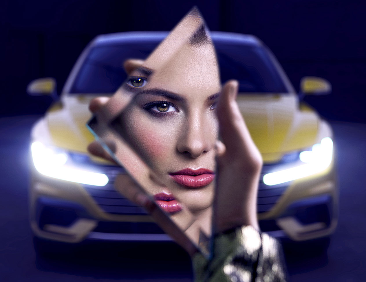 Volkswagen Interactive Art - eXeX created an augmented reality art series for the debut of Volkswagen's new flagship Arteon sedan. Visitors to the art show would open the event app and point their smart devices at a piece of art, which would activate an interactive 3D experience.