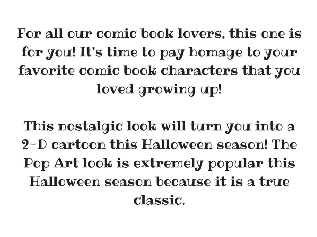 Pop Art Halloween Makeup Text