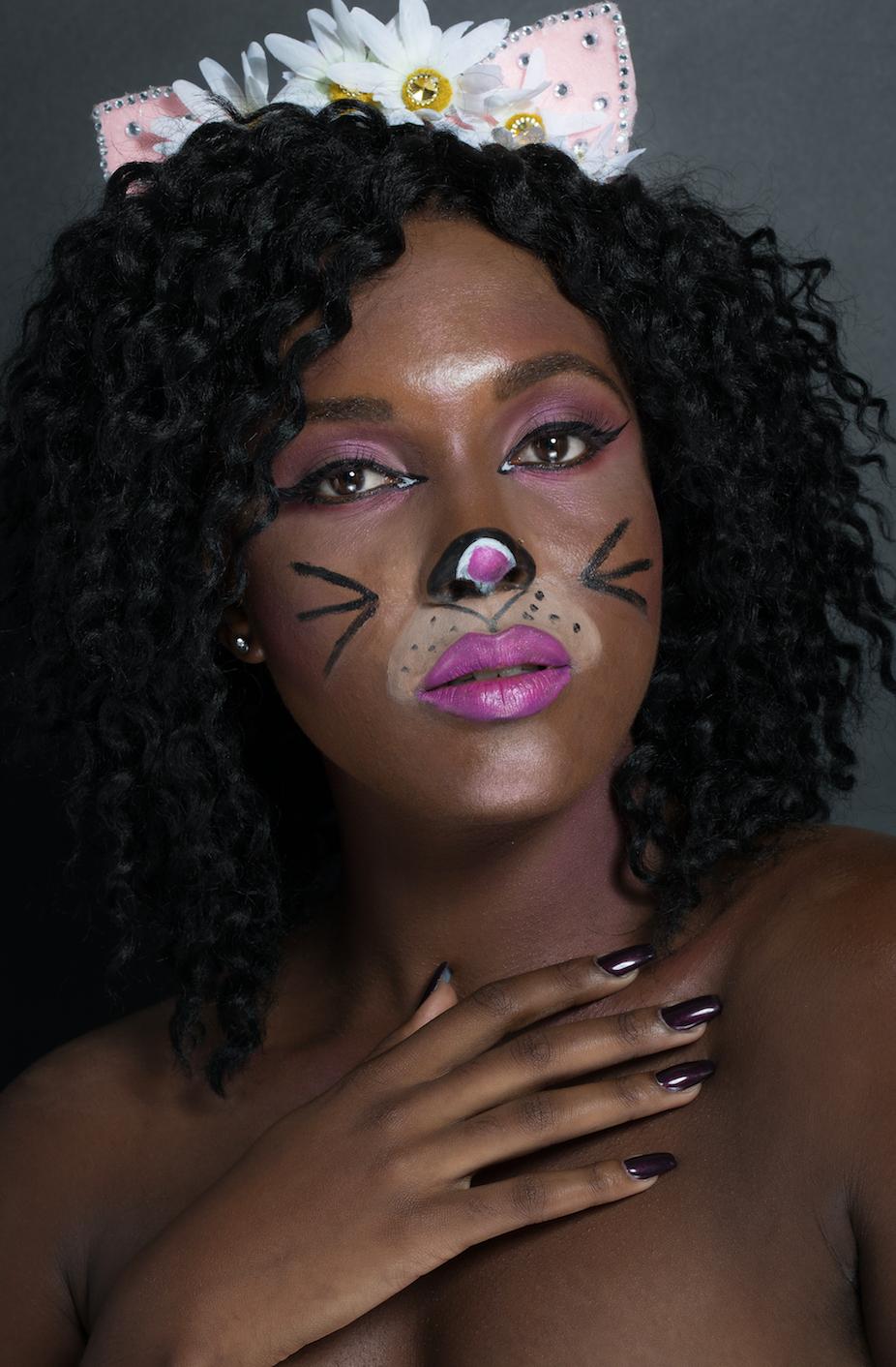 Photographer:  @jachristo /Retoucher: @luisparradesign   Makeup: @annaconnieeexmua   Model:  @cyn_hamm    Text: Mocha Girl Beauty Staff