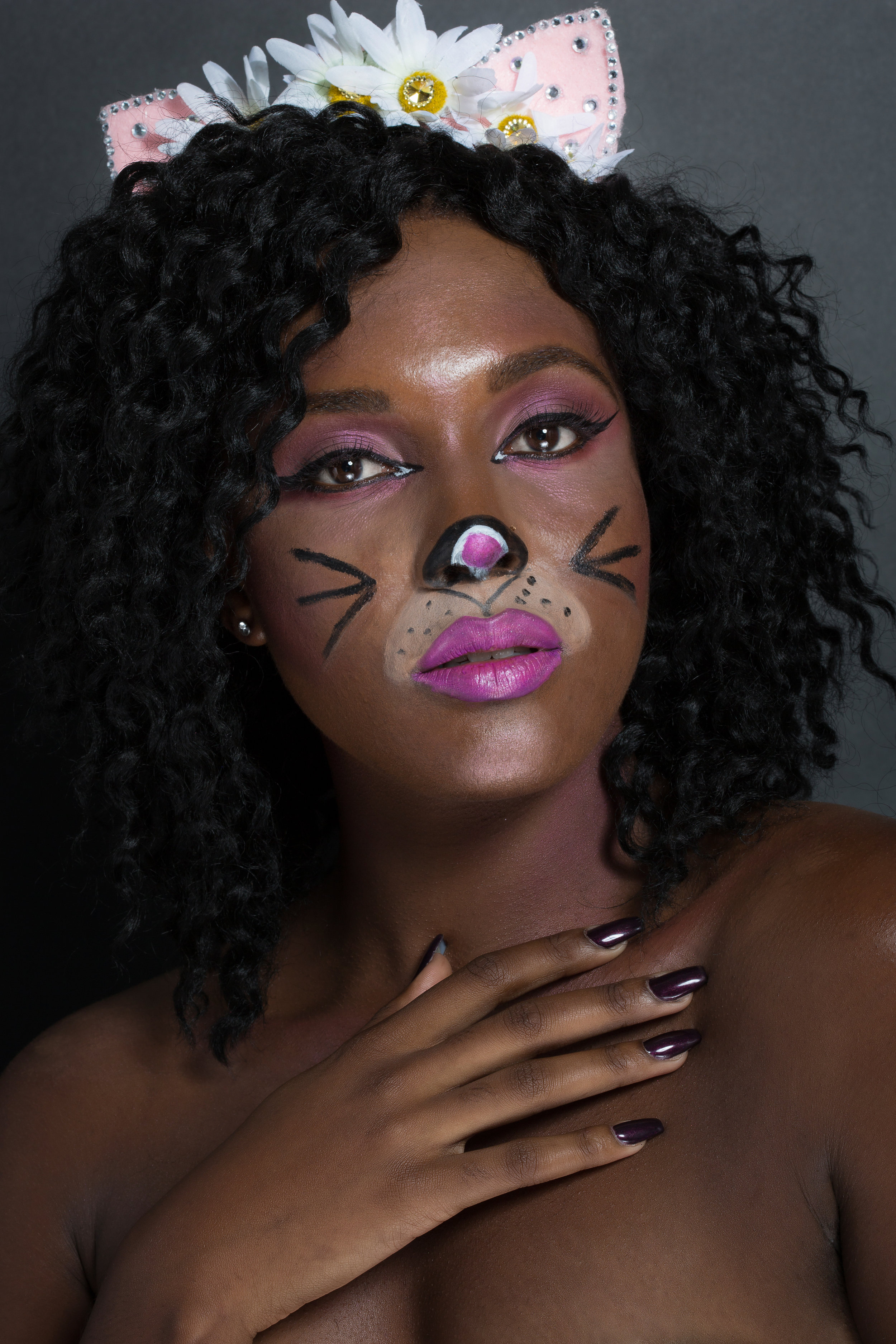 Hello, Kitty - Keep in mind, this look is not only the easiest to achieve in a time crunch, but it's also one of the most budget friendly looks.