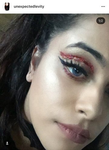 "Look at her take on the ""cut crease"""
