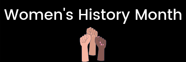 womens history month banner