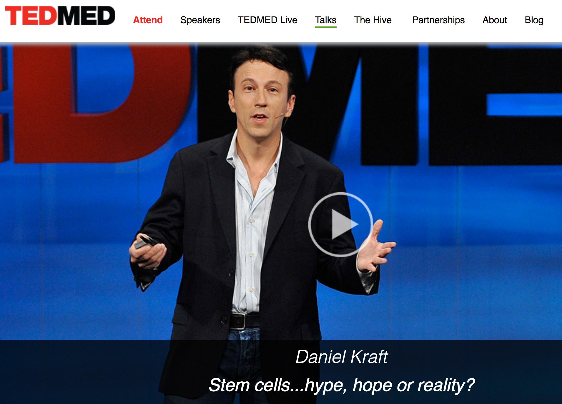 TEDMED Talk: On Stem Cell Biology and Regenerative Medicine