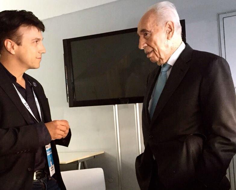 Daniel Kraft and Shimon Peres