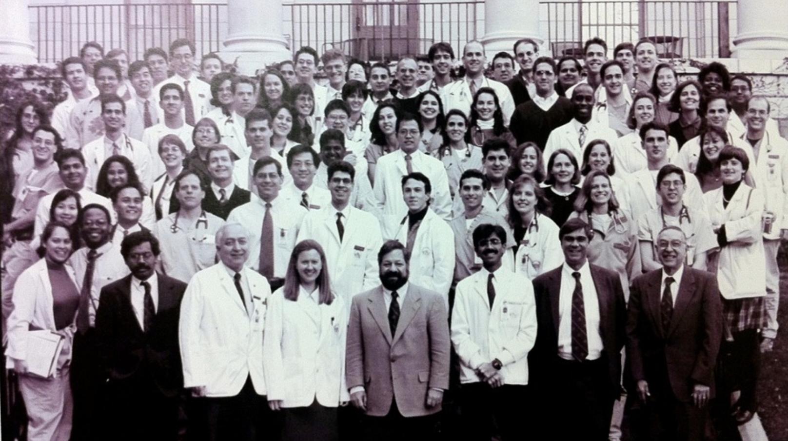 Daniel Kraft and fellow Internal Medicine residents at the Massachusetts General Hospital
