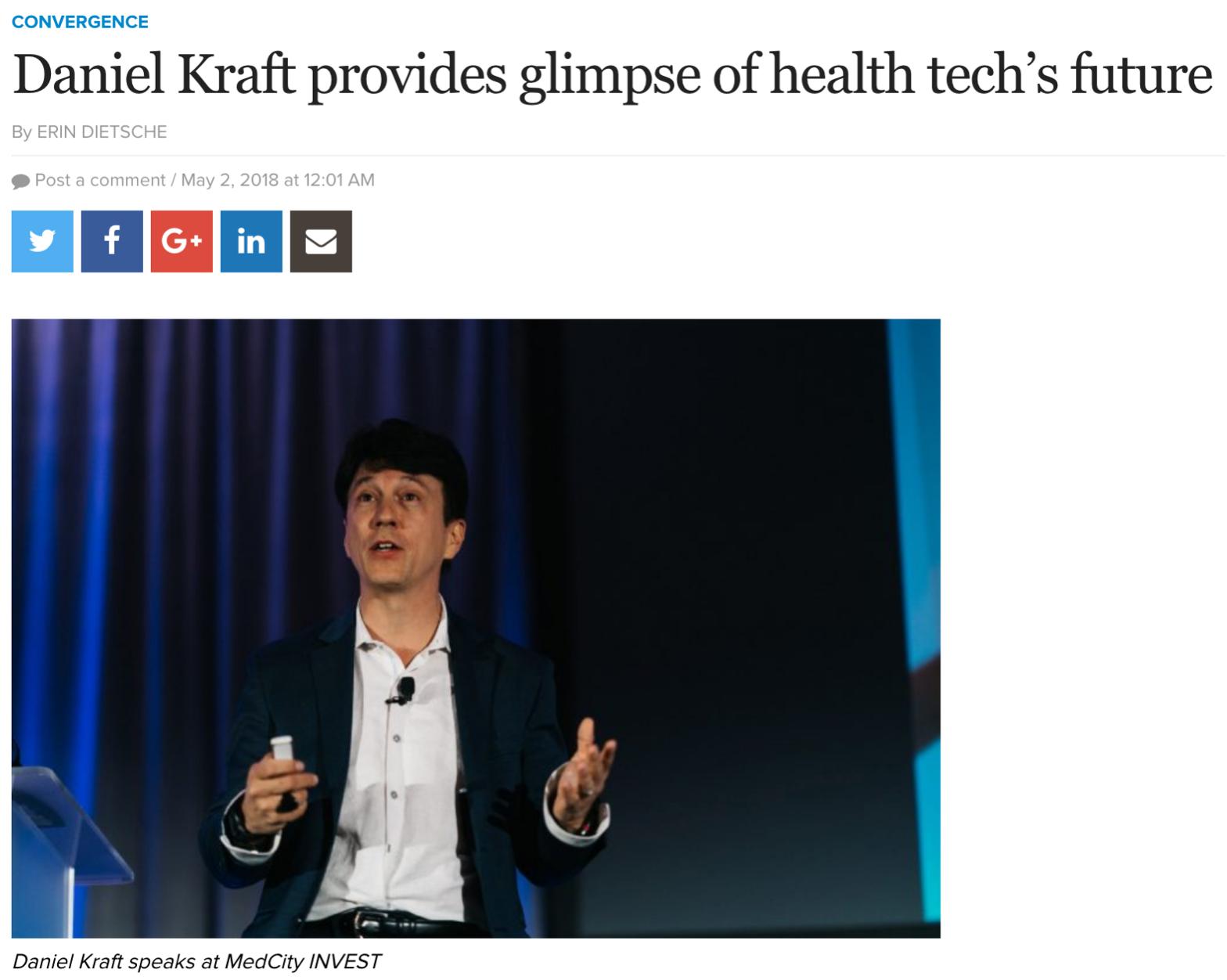 Daniel Kraft speaking at MedCity Invest
