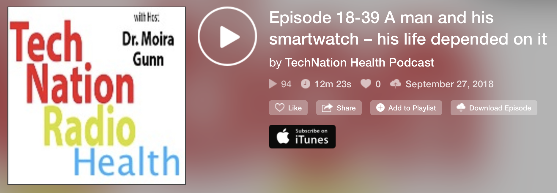 Latest Segment on  TechNation Health , where Daniel is Chief Correspondent. More episodes  can be found here .