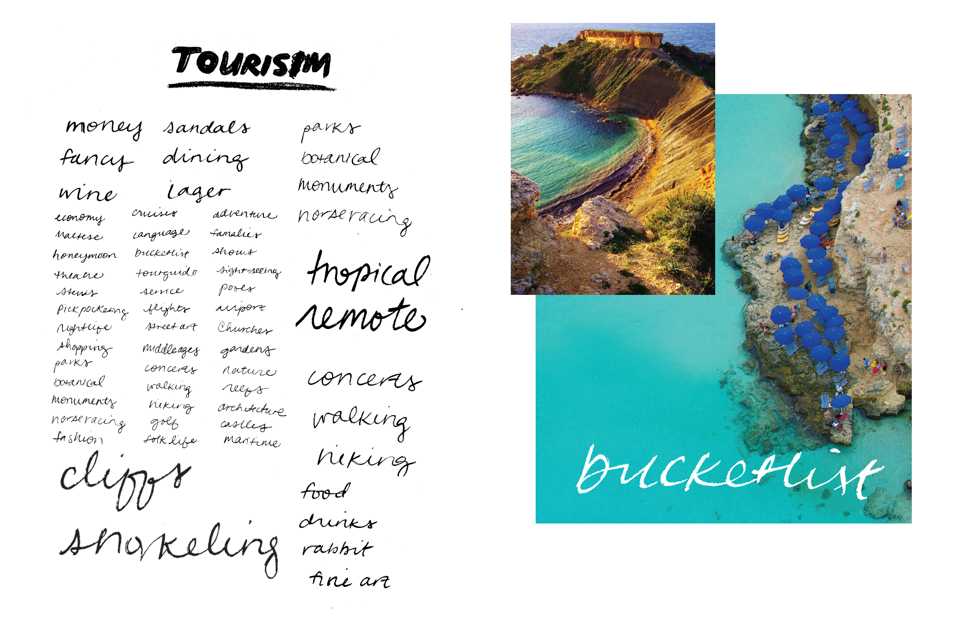 word list - tourism