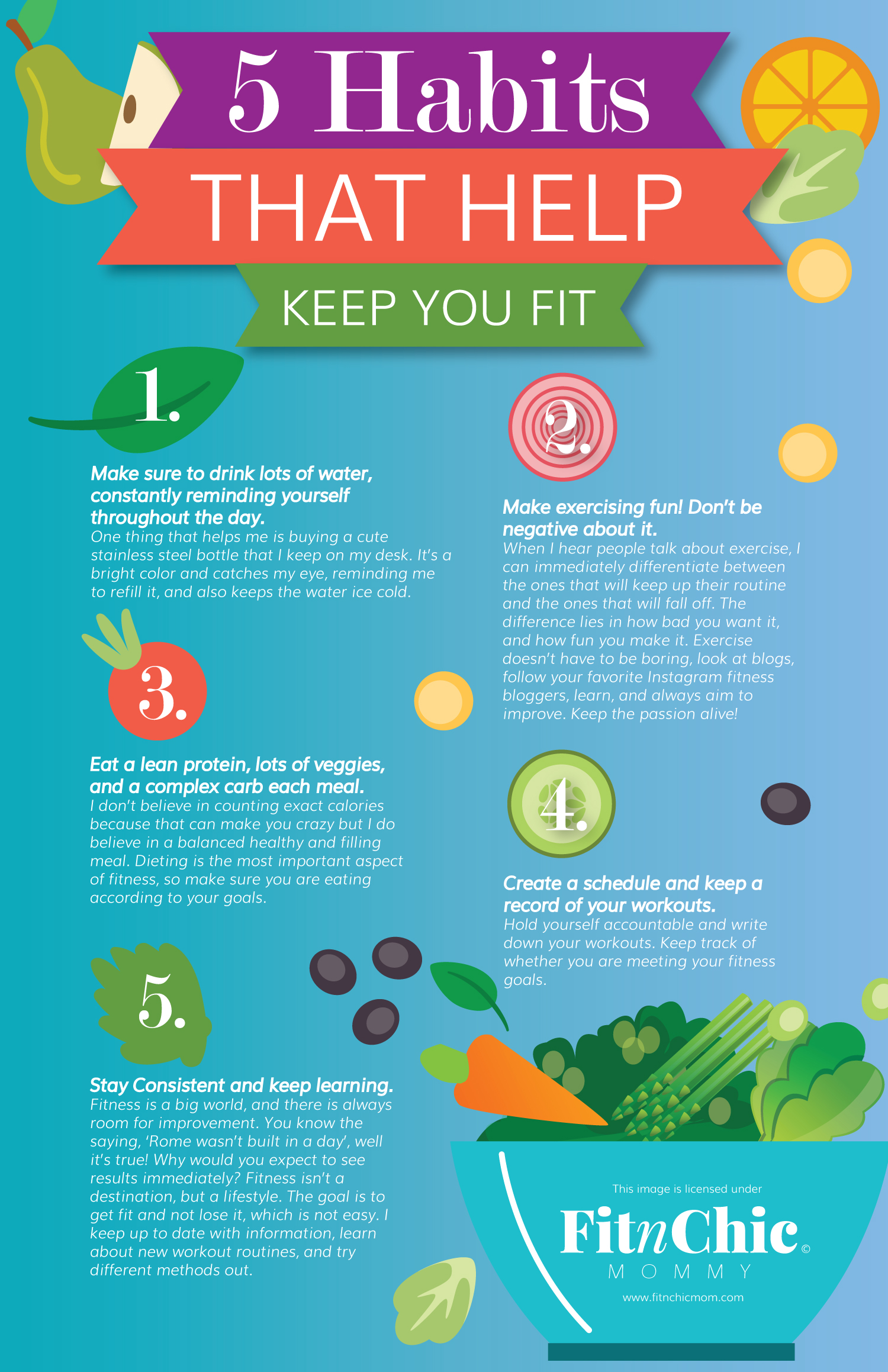 fitnchic mommy 5 habits that help keep you fit