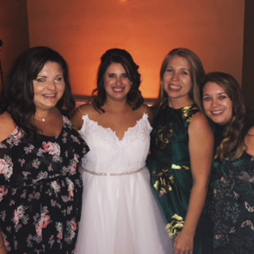 Britt (Augusta), Kristina (Cincinnati), kasie (Atlanta) and Bayly (Charleston) all attending Kristina's wedding this past August!