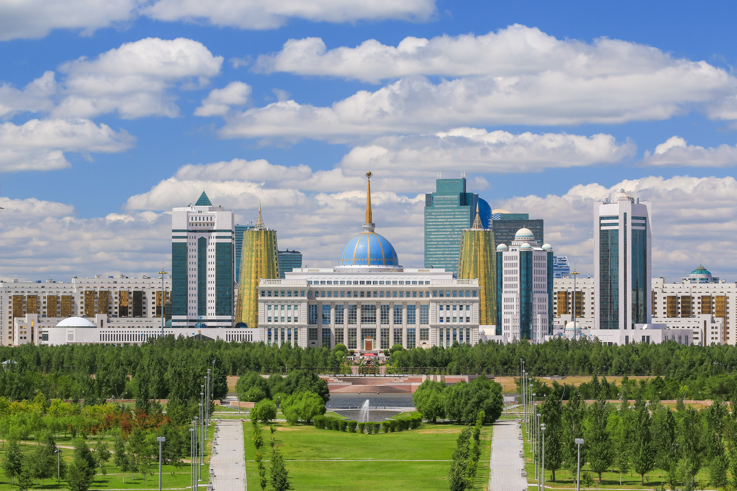 Parkland that meanders around Astana and the banks of the Ishim River. Photo: Pavel Tenyakov