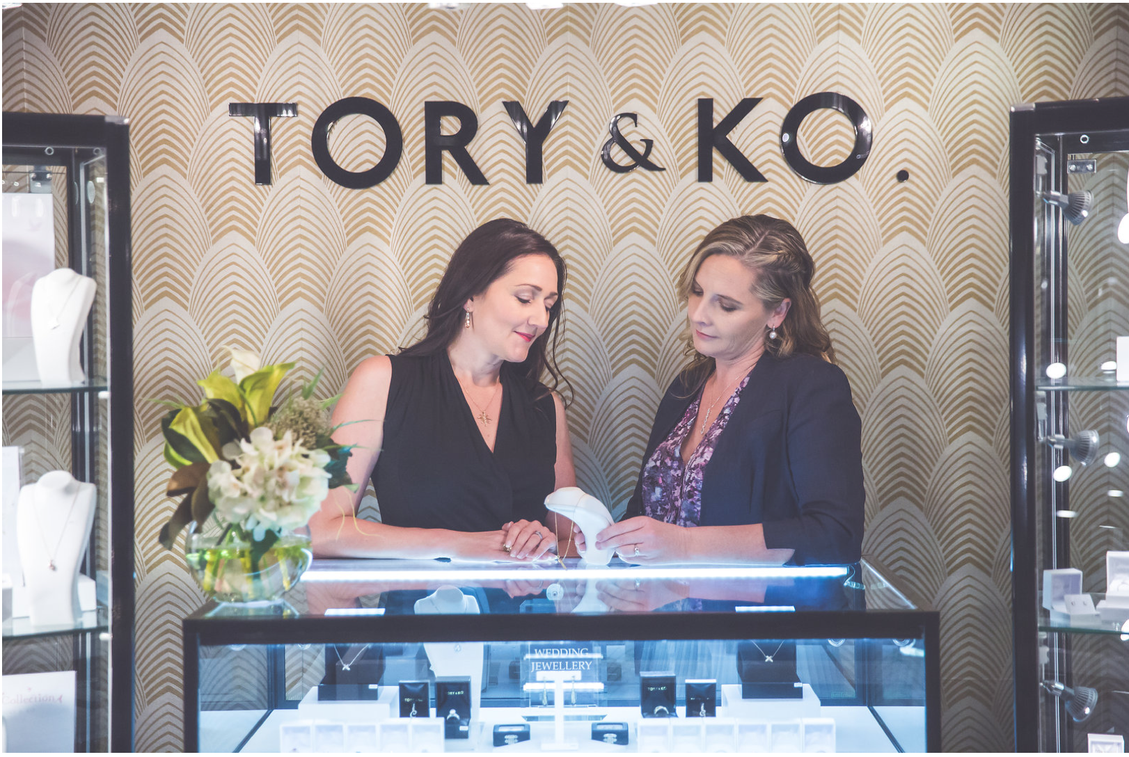 Kirstin O'Brien and Victoria Taylor in their Fine Jewellery Store Ground Floor, Old Bank Arcade.png