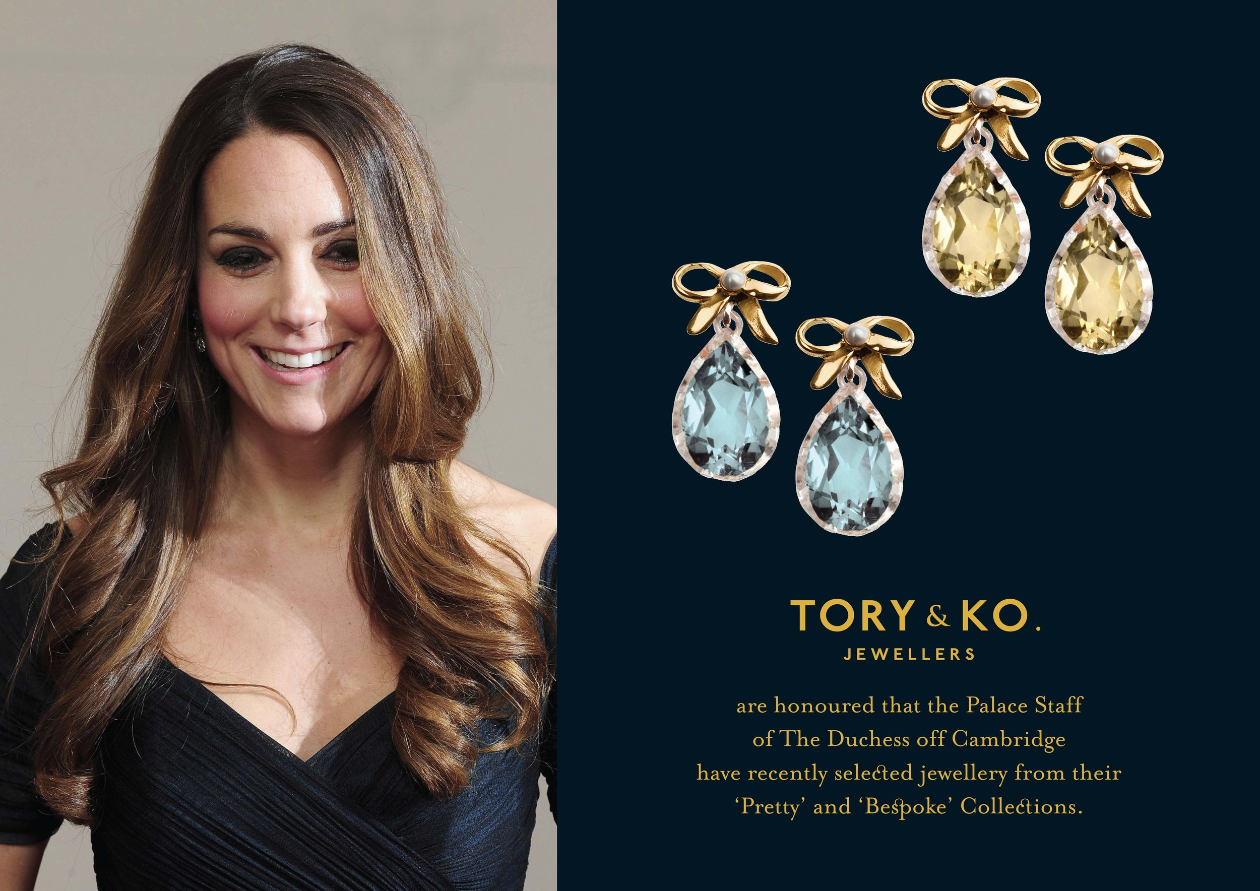 Kate Middleton Pretty Collection Bow Earrings .jpg