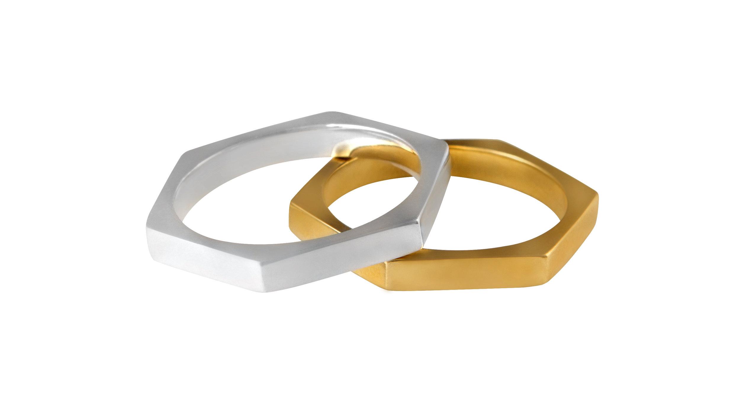 Silver & Gold Stellation Rings.jpg