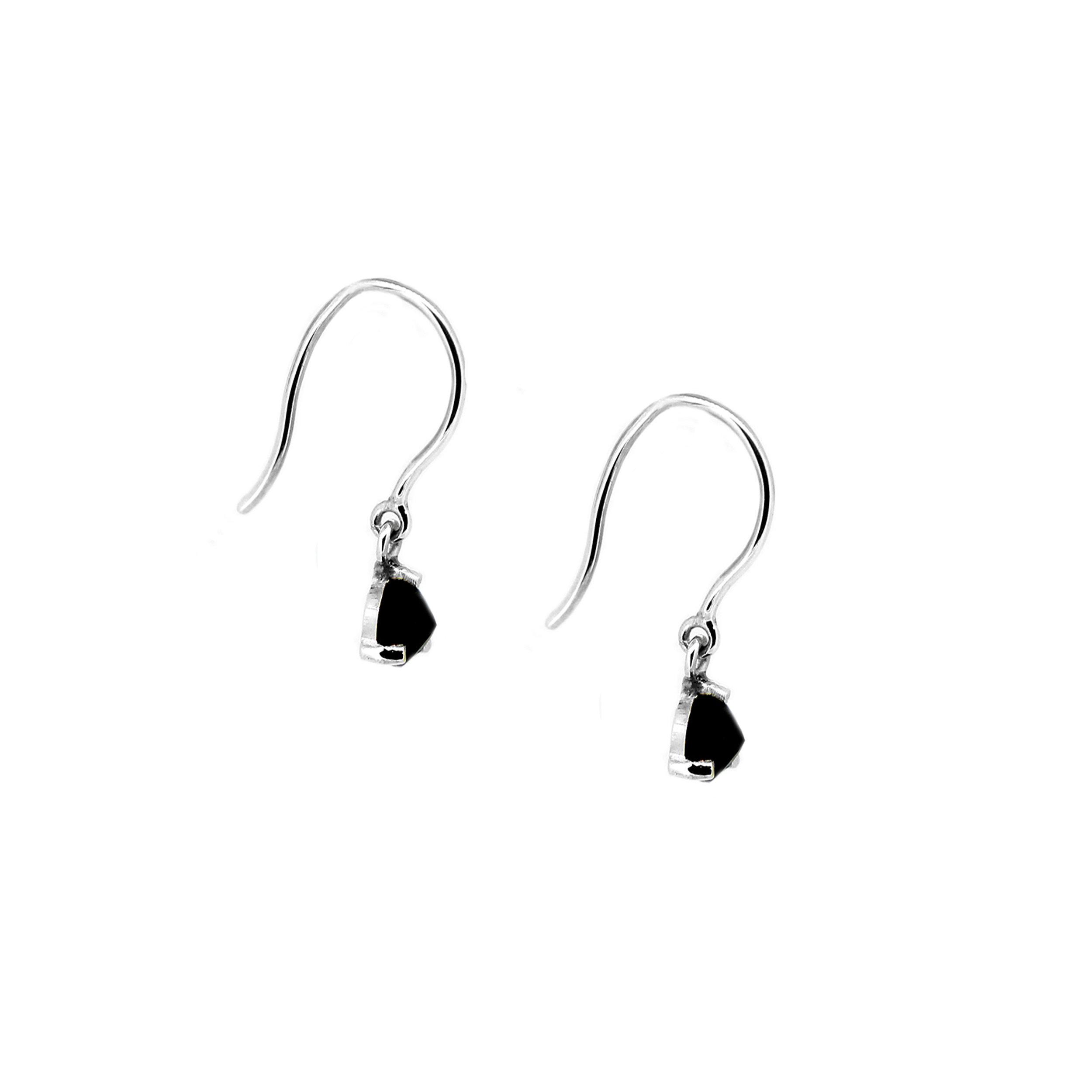 Midnight Sapphire Hook Earrings