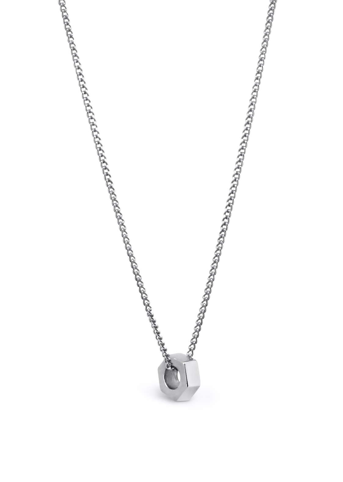 Single Stellation Necklace Silver close up.png