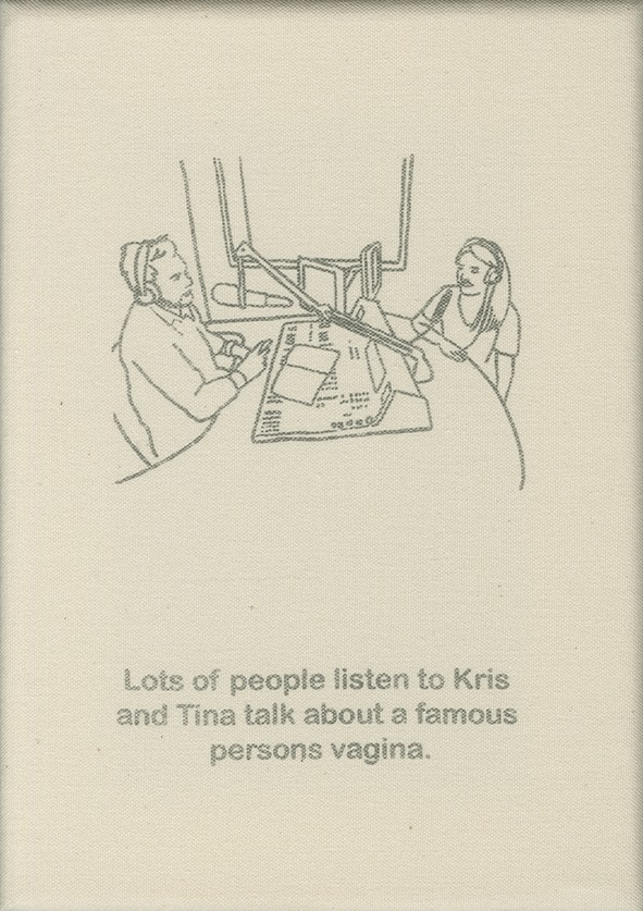 Lots of people are listening to Kris and Tina talk about a famous person's vagina.