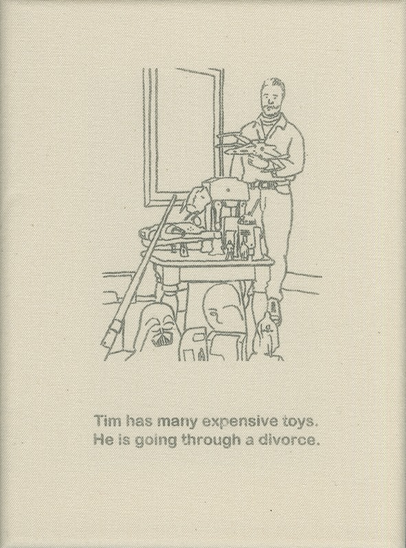 Tim has many expensive toys. He is going through a divorce.